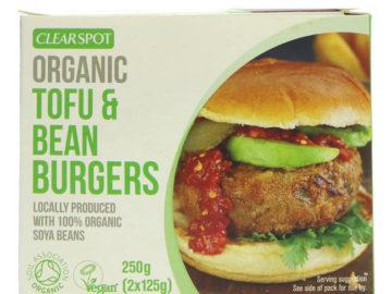 Clearspot Tofu & Bean Burgers Organic