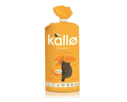 Kallo Honey Rice & Corn Cakes Organic