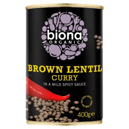 Biona Brown Lentil Curry Organic