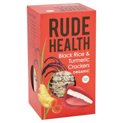 Rude Health Black Rice & Turmeric Crackers Organic