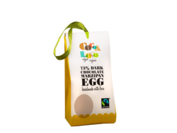 Cocoa Loco 73% Dark Chocolate Marzipan Egg Organic