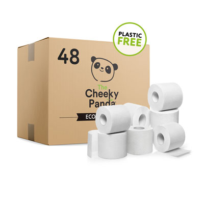 The Cheeky Panda Plastic Free Toilet Paper Case Of 48