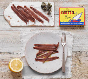 Ortiz Anchovies in Olive Oil ~ 12 to 18 pieces