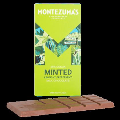 Montezuma's Minted Crunchy Peppermint Milk Chocolate 35% Cocoa