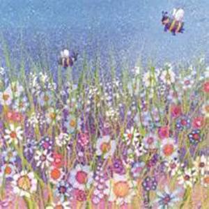 "Greetings Card ""Bees in the Meadow"" by Penny Gaj"