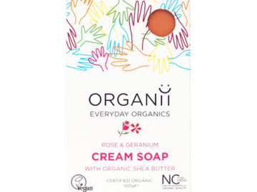 Organii Rose & Geranium Cream Soap