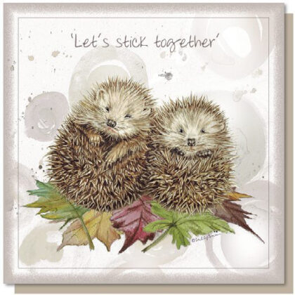 'Let's Stick Together' Greetings Card
