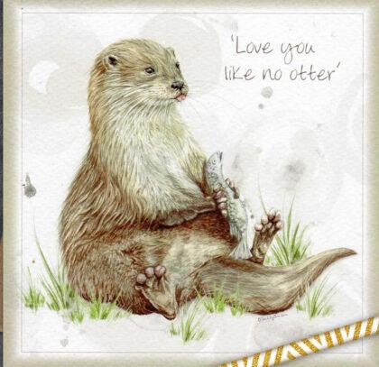 'Love You Like No Otter' Greetings Card