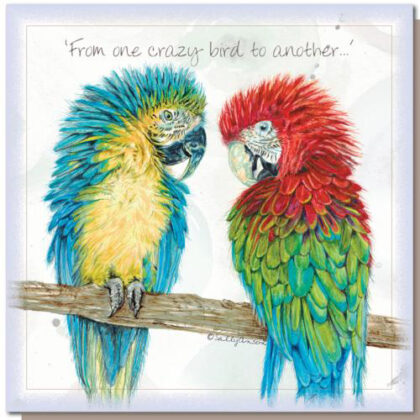 'From One Crazy Bird To Another…' Greetings Card