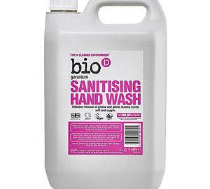Bio D Geranium Sanitising Hand Wash 5l
