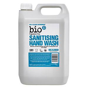 Bio D Unfragranced Sanitising Hand Wash 5l