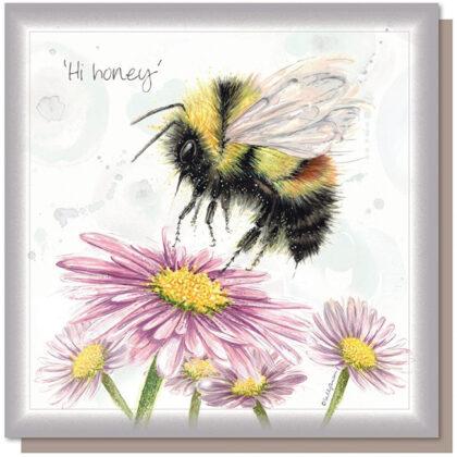 'Hi Honey' Greetings Card