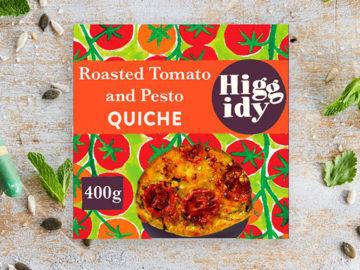 Higgidy Roasted Tomato & Pesto Quiche With Mature Cheddar