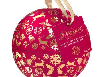 Divine Xmas Bauble Chocolate Pretzels