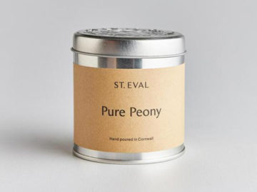St Eval Pure Peony Candle in a Tin