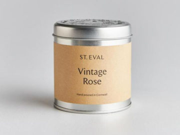 St Eval Vintage Rose Candle in a Tin