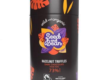 Seed & Bean Dark Chocolate Hazelnut Truffles Organic