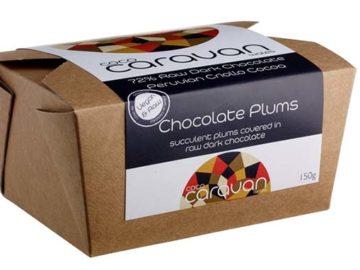 Coco Caravan Dark Chocolate Coated Plums