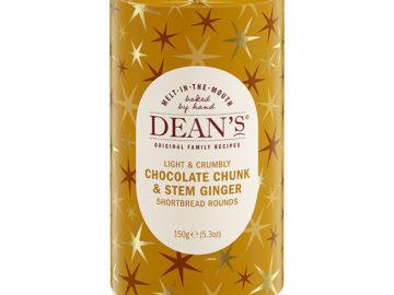 Dean's Chocolate  Chunk  & Stem Ginger Shortbread