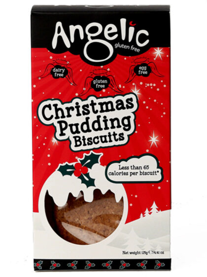Angelic Christmas Pudding Biscuits