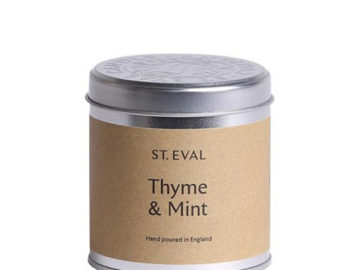 St Eval Thyme Mint Candle in Tin