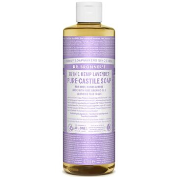 Dr. Bronner's 18-in-1 Hemp Lavender Pure-Castile Soap 473ml Organic