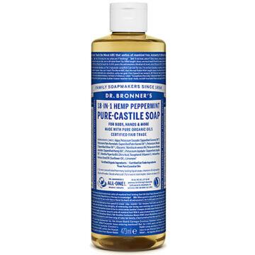 Dr. Bronner's 18-in-1 Hemp Peppermint Pure-Castile Soap 473ml Organic