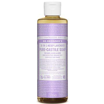 Dr. Bronner's 18-in-1 Hemp Lavender Pure-Castile Soap 237ml Organic