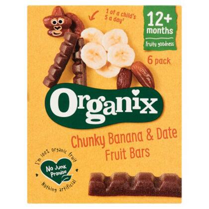 Organix Chunky Banana Date Fruit Bars