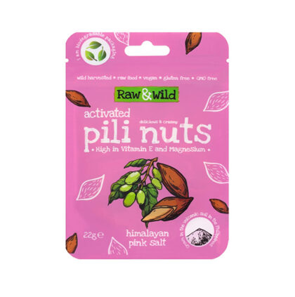 Raw & Wild Activated Pili Nuts Himalayan Pink Salt