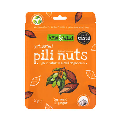 Raw & Wild Activated Pili Nuts Turmeric & Ginger