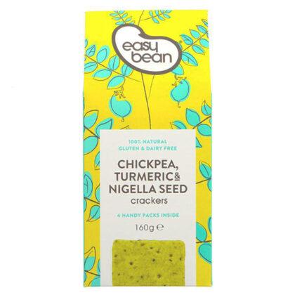 Easy Bean Chickpea Turmeric & Nigella Seed Crackers
