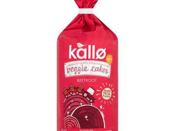 Kallo Lentil & Pea Veggie Cakes Beetroot