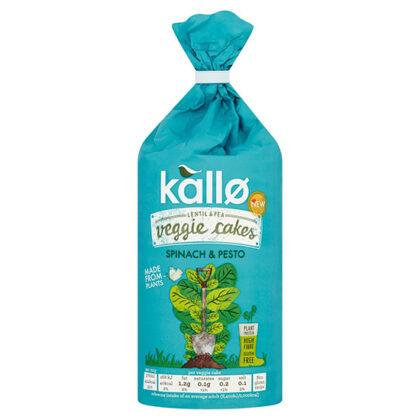 Kallo Lentil & Pea Veggie Cakes Spinach & Pesto
