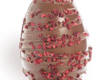Cocoa Loco Milk Chocolate & Raspberry Egg Organic