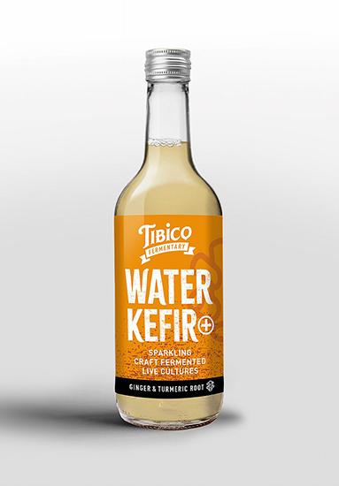 Tibico Fermentary Sparkling Ginger & Turmeric Root Water Kefir 330ml