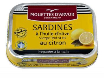 Mouettes D'Arvor Sardines wtih Lemon Confit and Spices in Extra Virgin Olive Oil