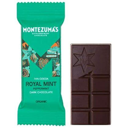 Montezuma Dark Chocolate Royal Mint Organic 25g