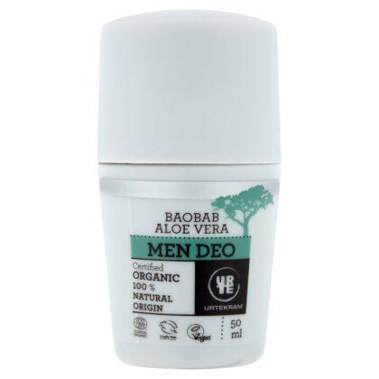 Urtekram Aloe Vera Baobab Cream Deo Men Organic