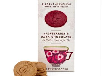 Elegant & English Chocolate Raspberry Biscuits
