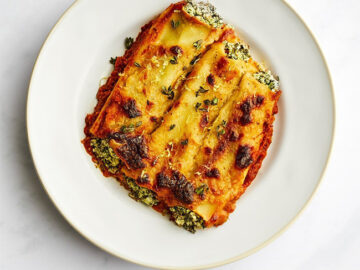 By Ruby Spinach Ricotta Cannelloni