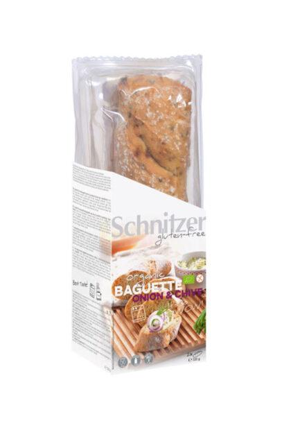 Schnitzer Gluten Free Onion & Chive Baguette Organic