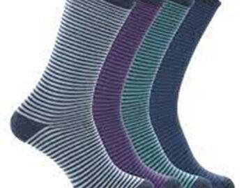 Bam Men's Stripey Luxury Bamboo Socks UK 8 – 11 Stockenham