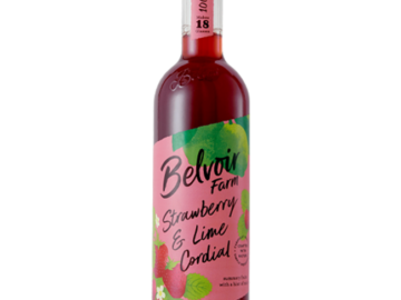 Belvoir Strawberry Lime Cordial and Mint