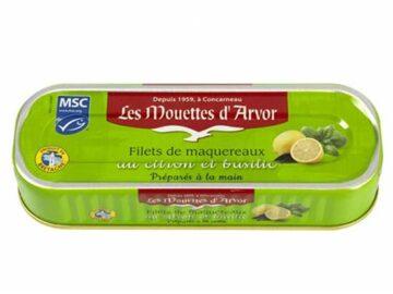 Mouettes D'Arvor Mackerel Fillets With Lemon & Basil