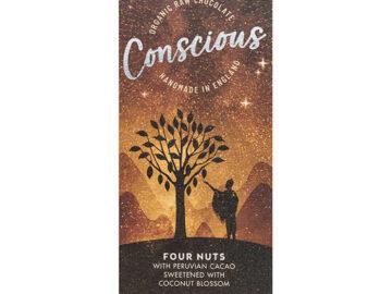 Conscious Four Nuts Handmade Raw Chocolate Organic