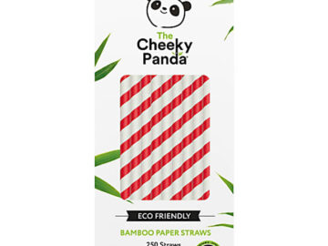 Cheeky Panda Bamboo Paper Straws Red