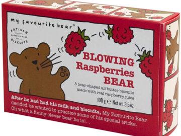 Artisan Raspberry Bear Biscuits