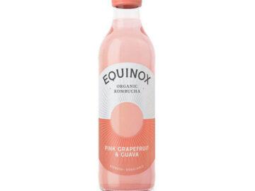 Equinox Pink Grapefruit & Guava Kombucha Organic