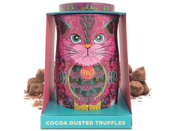 Monty Bojangles Cocoa Dusted Truffles Pink Cat Tin